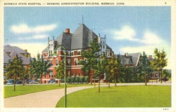 Postcard of Norwich State Hospital